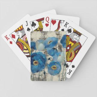 Cartes À Jouer Aigue-marine florale