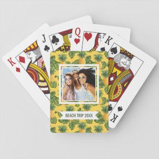 Cartes À Jouer Ajoutez vos ananas nommés de | et feuille tropical