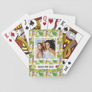 Cartes À Jouer Ajoutez vos perroquets | tropicaux nommés