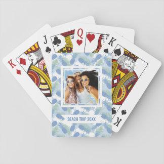 Cartes À Jouer Ajoutez votre motif en pastel | tropical nommé