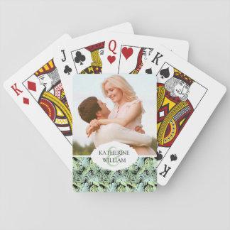 Cartes À Jouer Ajoutez votre motif floral de jungle nommée de |