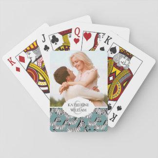 Cartes À Jouer Ajoutez votre motif nommé de zèbre de |