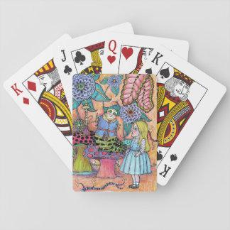 Cartes À Jouer Alice au pays des merveilles, Alice rencontre