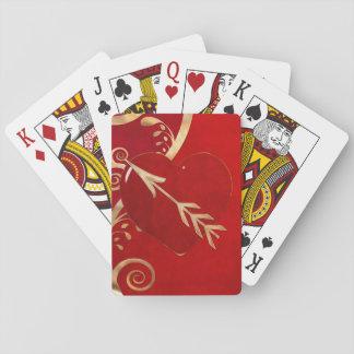 Cartes À Jouer AMANTS de STRIP POKER d'élégance de Valentine