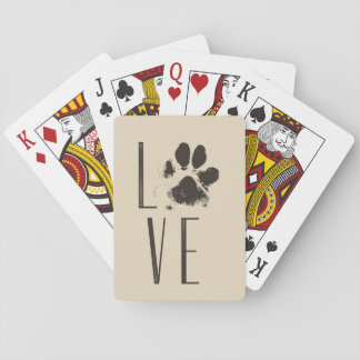 Cartes À Jouer Amour avec la typographie de grunge de Brown