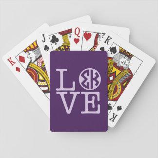 Cartes À Jouer Amour de Kappa de sigma