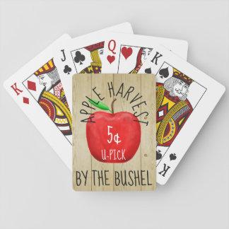 Cartes À Jouer Apple moissonnent le signe vintage