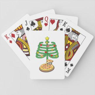 Cartes À Jouer Arbre de christmass de squelettes de pizza