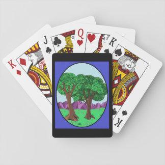 Cartes À Jouer Arbres dans un pré paisible