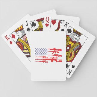 Cartes À Jouer Arme à feu patriotique de fierté des Etats-Unis de