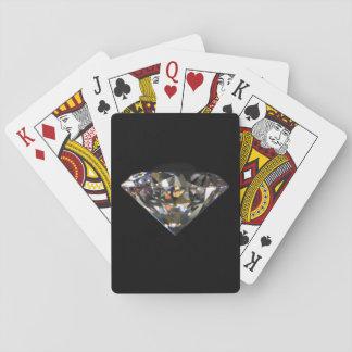 Cartes À Jouer Arrière - plan noir de Bling de bijou brillant de