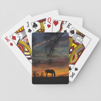 Cartes À Jouer Belles cartes de jeu de cheval et de chêne