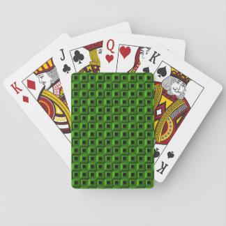 Cartes À Jouer Bernaches dans les cartes de jeu vertes