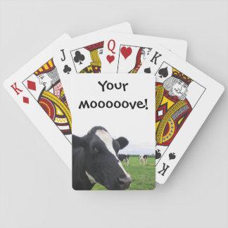 Cartes À Jouer Bétail humoristiques d'animal de grange de ferme