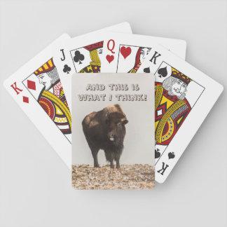 Cartes À Jouer Bison collant sa langue - humour - drôle