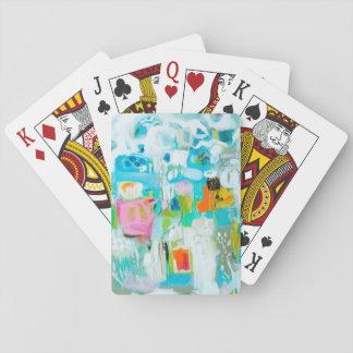 Cartes À Jouer Bleu abstrait