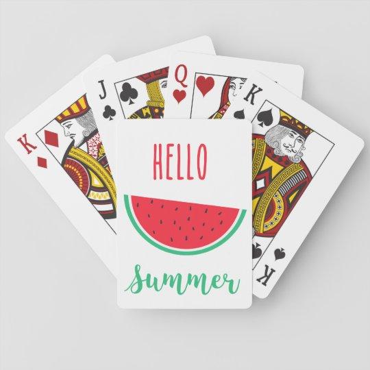 Cartes À Jouer Bonjour cartes de jeu d'été