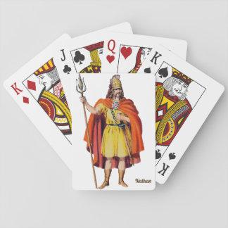 Cartes À Jouer Britannique antique COSTUME~Personalised NATHAN~