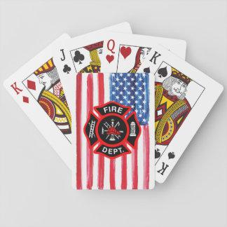 Cartes À Jouer Cadeau pour la croix maltaise de drapeau américain