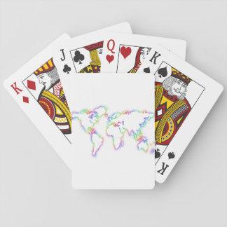 Cartes À Jouer Carte colorée du monde