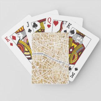 Cartes À Jouer Carte dorée de ville de Paris