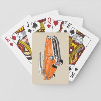 Cartes À Jouer Cartes 1957 de jeu de Shoebox dans orange et blanc