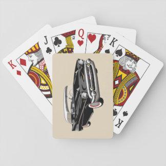 Cartes À Jouer Cartes 1957 de jeu de Shoebox en noir et blanc