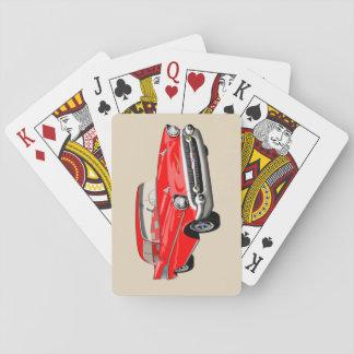 Cartes À Jouer Cartes 1957 de jeu de Shoebox en rouge