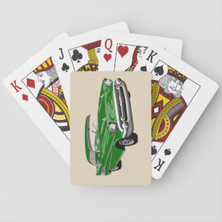 Cartes À Jouer Cartes 1957 de jeu de Shoebox en vert