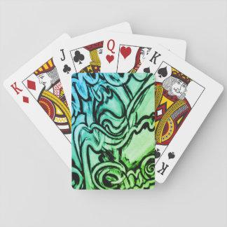Cartes À Jouer Cartes de jeu abstraites de peinture de