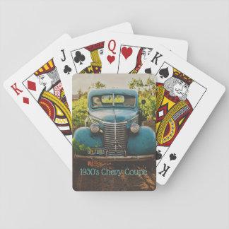 Cartes À Jouer Cartes de jeu antiques de coupé des années 1930