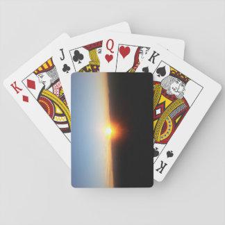 Cartes À Jouer Cartes de jeu avec le coucher du soleil de
