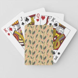 Cartes À Jouer Cartes de jeu avec les vignes et le feuille