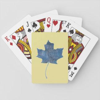 Cartes À Jouer Cartes de jeu bleues de Monoprint de feuille