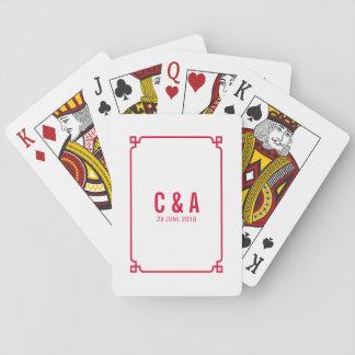 Cartes À Jouer Cartes de jeu chics rouges de mariage de Deco
