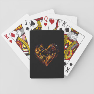 Cartes À Jouer Cartes de jeu classiques - c?ur d'or