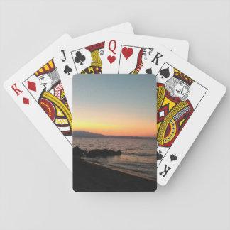 Cartes À Jouer Cartes de jeu classiques de coucher du soleil