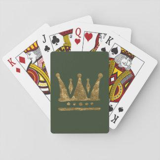 Cartes À Jouer Cartes de jeu classiques de couronne d'or