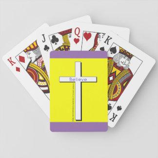 Cartes À Jouer Cartes de jeu croisées chrétiennes