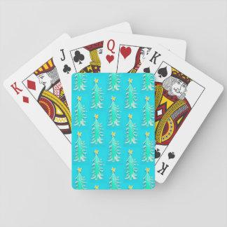 Cartes À Jouer Cartes de jeu d'arbre de Noël, turquoise