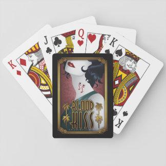 Cartes À Jouer Cartes de jeu de baiser de sang avec l'affiche de