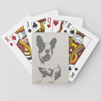 Cartes À Jouer Cartes de jeu de bouledogue français