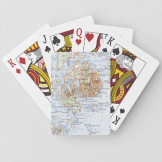 Cartes À Jouer Cartes de jeu de carte de l'Île déserte de bâti