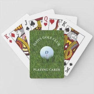 Cartes À Jouer Cartes de jeu de club de golf du papa