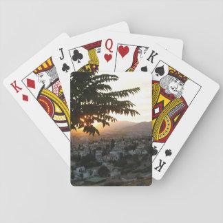 Cartes À Jouer Cartes de jeu de coucher du soleil