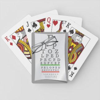 Cartes À Jouer Cartes de jeu de diagramme d'optométriste