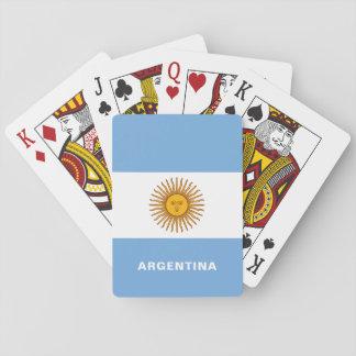 Cartes À Jouer Cartes de jeu de drapeau de l'Argentine