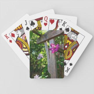 Cartes À Jouer Cartes de jeu de fleur de clématite