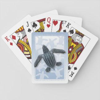 Cartes À Jouer cartes de jeu de hatchling de tortue de mer de