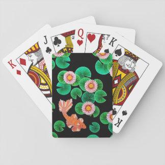 Cartes À Jouer Cartes de jeu de nénuphars et de poissons de Koi